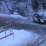 La Ford FIesta WRC dans le fossé