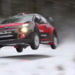 La Citroën C3 WRC les 4 roues en l'air