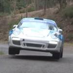 La Porsche 997 GT3 avec les roues en l'air