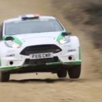 La Ford Fiesta R5 sur un saut