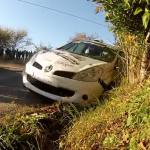 La Renault CLio R3 dans les arbres