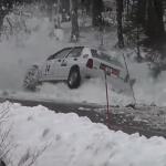 La Lancia Delta dans le mur de neige