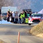 La Citroën DS3 WRC les 4 roues en l'air