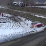 La Citroën DS3 WRC dans le champs