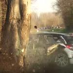 La Citroën DS3 R5 juste après le choc