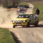 Une Opel Kadette en glisse