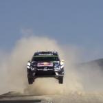 Volkswagen Polo R WRC les 4 roues en l'air