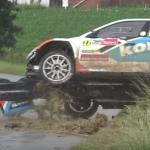 Crash d'une Skoda Fabia R5