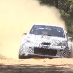 La Toyota Yaris WRC lors des essais