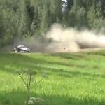 La Ford Fiesta WRC pendant le crash