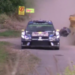 La Volkswagen Polo R WRC pendant un choc