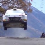 Fabio Andolfi les 4 roues en l'air avec la Hyundai I20 R5