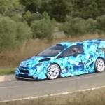 La Ford Fiesta WRC 2017 pendant les essais