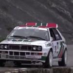 Une Lancia Delta HF Integrale lors du rallye