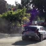 Une Hyundai I20 WRC en glisse