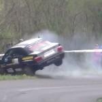 Une BMW en plein crash