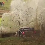 La Skoda Fabia WRC pendant le choc