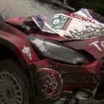La Citroën DS3 WRC en mauvais état