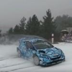 La Ford Fiesta WRC 2017 sur la neige