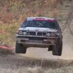 Lancia Delta Integrale les 4 roues en l'air