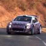 La Citroën C3 WRC pendant les essais