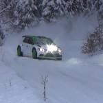 La Skoda Fabia R5 sur la neige