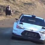 La Hyundai I20 WRC dans une grosse corde