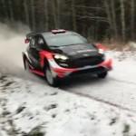 La Ford Fiesta WRC lors des essais