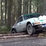 Une Porsche en mauvaise posture