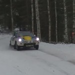 Une Porsche lors du rallye